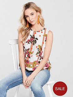 river-island-tropical-floral-print-split-back-knot-tank-topnbsp--cream