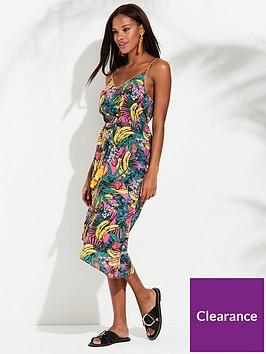 river-island-river-island-banana-print-asymmetric-beach-dress--multi