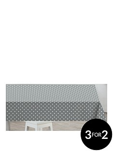 sabichi-grey-polka-dot-pvc-tablecloth