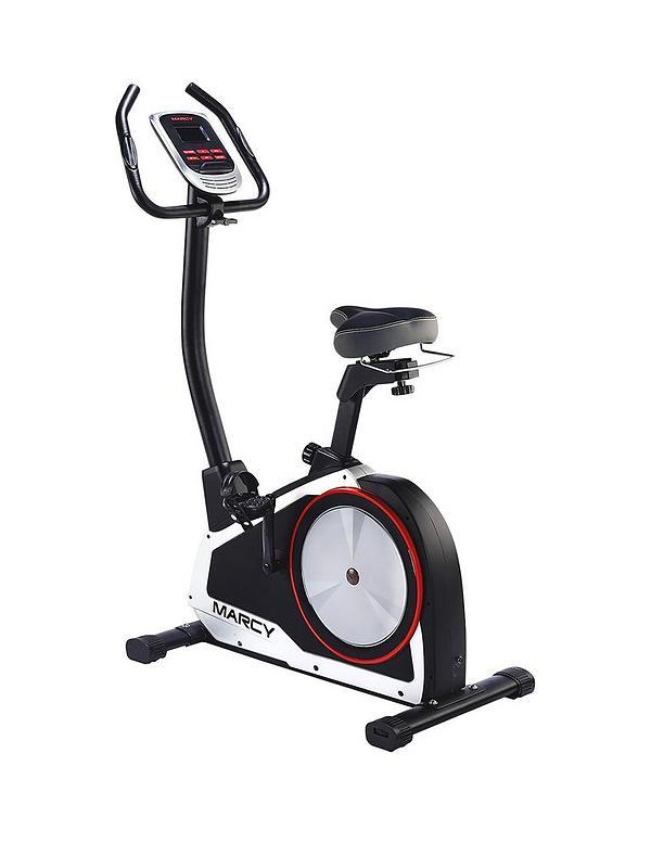 Onyx B80 Upright Exercise Bike with Tablet Phone Holder
