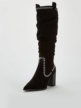 v-by-very-india-point-western-knee-boot-blacknbsp