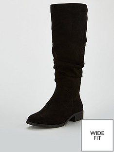 v-by-very-wide-fit-isobel-flat-slouch-knee-boot-black