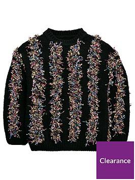 v-by-very-girls-coloured-stripe-jumper-black