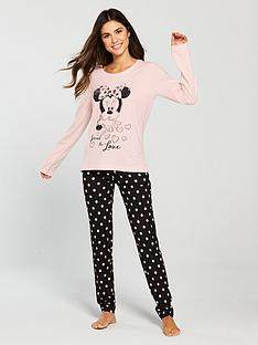 minnie-mouse-polka-dot-printednbsppyjama-set