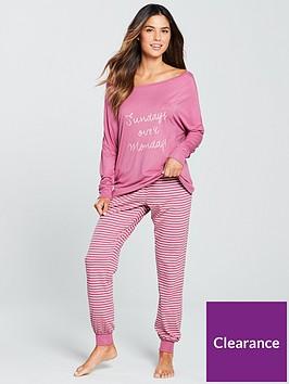 v-by-very-sundays-over-mondays-stripe-pyjama-set-rose-pink