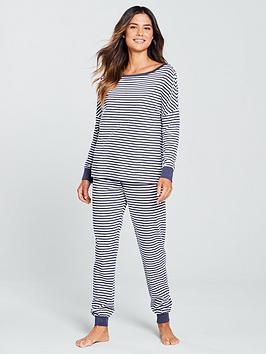 v-by-very-stripe-pyjama-set-navy