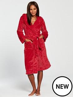 v-by-very-hoodednbspdressing-gown-rednbsp