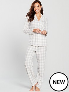 v-by-very-revere-flannel-pyjamas-grey-check