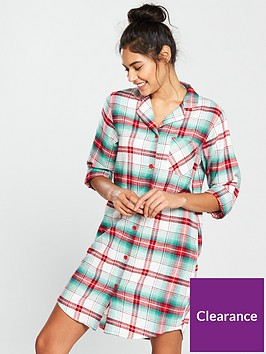 v-by-very-flannel-nightdress-checked-print