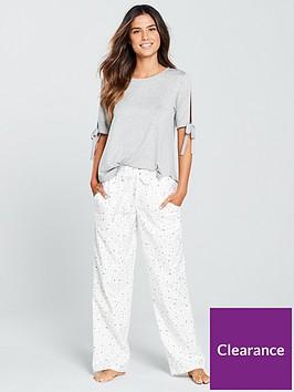 v-by-very-jersey-top-woven-bottom-pyjama-set-creamgrey