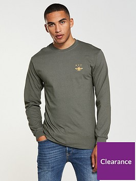 river-island-ls-wasp-emb-sweat