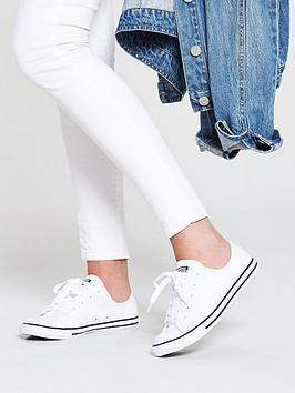 a7727925c78e Converse Chuck Taylor All Star Dainty Leather Ox - White ...