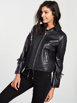 boss-jeamy-leather-jacket-with-cord-details-on-sleeves-black