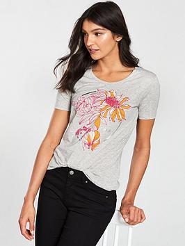 boss-casual-telaronde-t-shirt-with-flowered-print-and-boss-logo-grey
