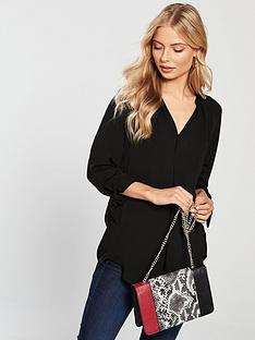 v-by-very-tie-sleeve-blouse-black