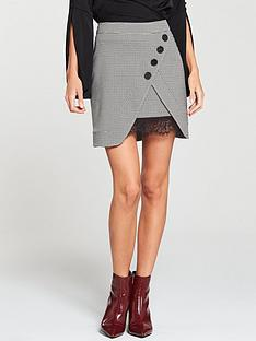 v-by-very-lace-trim-check-skirt