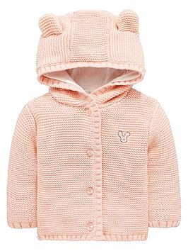 V by Very V By Very Baby Girls Soft Knit Jersey Lined Hooded Cardigan With  ... Picture