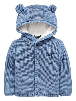 mini-v-by-very-baby-boys-soft-knit-jersey-lined-cardigan