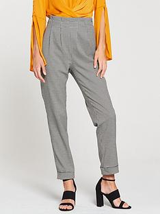 v-by-very-mini-check-tapered-leg-trouser-printednbsp