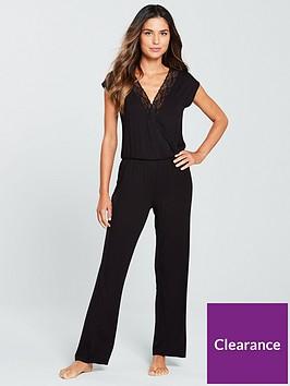 v-by-very-lace-trim-loungewear-jumpsuit-black