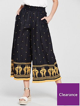 river-island-embroidered-trouser-navy