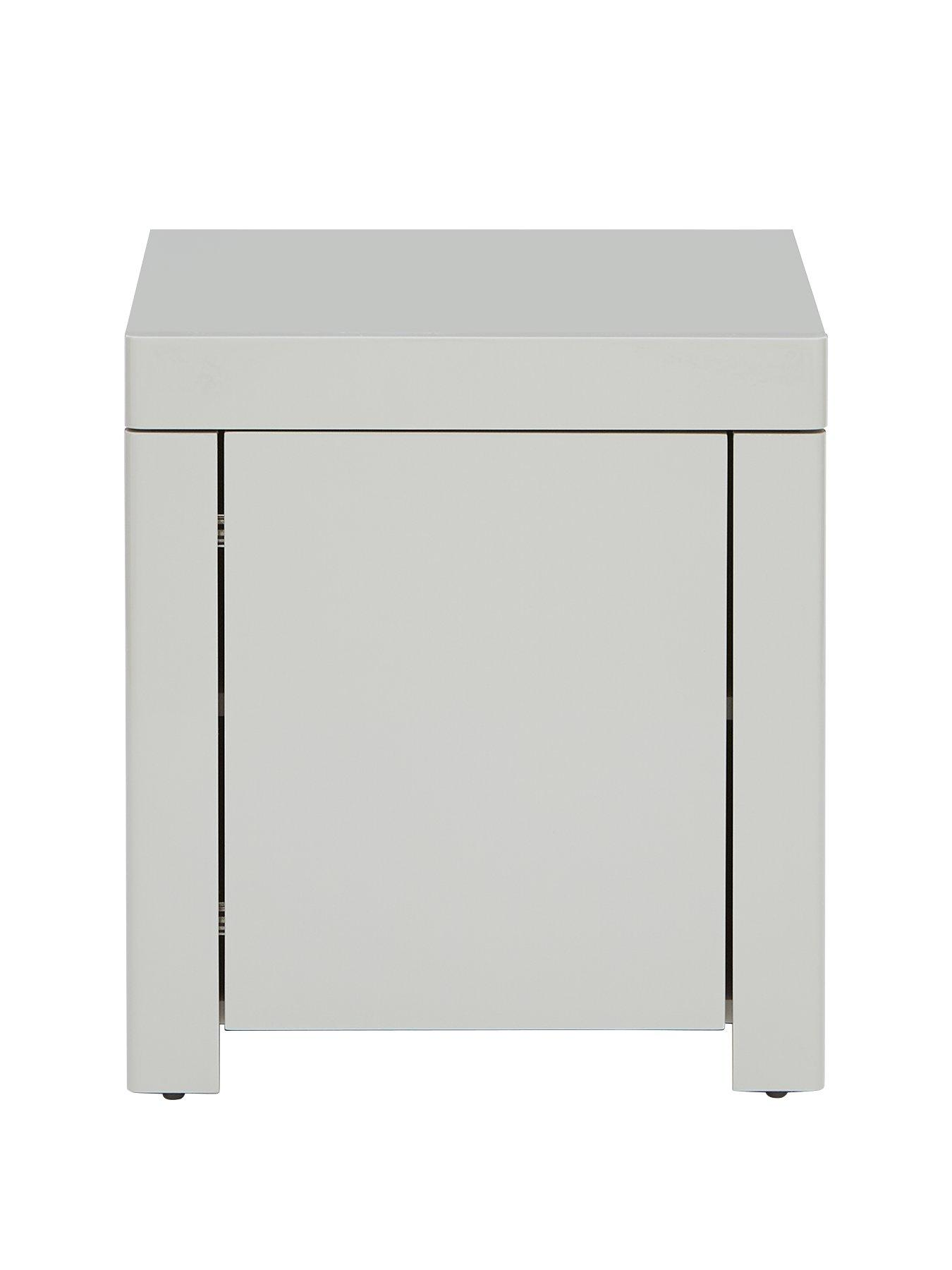 Richmond small lamp side table with drawer grey painted wooden furniture