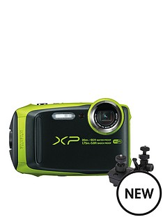 fujifilm-finepix-xp120nbspcamera-withnbspbicycle-andnbsplarge-suction-mounts--nbspblacklime-green