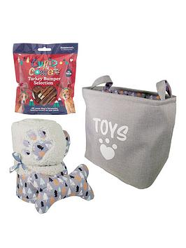 rosewood-dog-christmas-bundle-blanket-toy-basket-andnbspturkey-treats