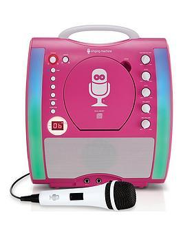 the-singing-machine-sml363-glow-karaoke-machine-ndash-pink
