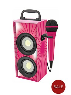 mini-bluetooth-karaoke-tower-with-microphone-pink