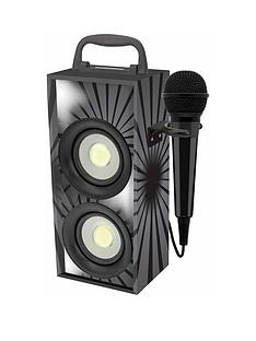 lexibook-mini-bluetooth-karaoke-tower-with-microphone-black