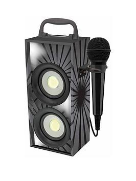 lexibook-mini-bluetooth-karaoke-tower-with-microphone-black