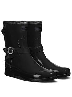 hunter-hunter-original-refined-back-strap-short-gloss-wellington-boot