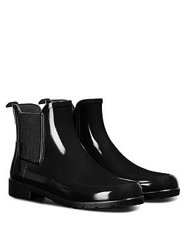 Hunter Hunter Original Refined Chelsea Gloss Wellington Boots - Black Picture