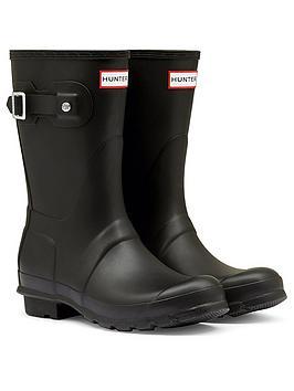 Hunter Hunter Original Short Wellington Boots - Black Picture