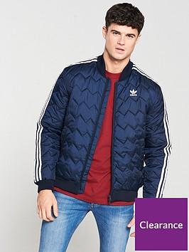 dac416a6 adidas Originals Superstar Quilted Jacket - Navy | littlewoods.com