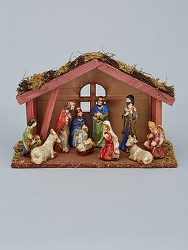 gisela-graham-ceramic-11-piece-ceramic-christmas-nativity-set-with-wooden-stable