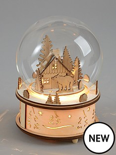 gisela-graham-wood-and-glass-led-snow-globe-christmas-decoration