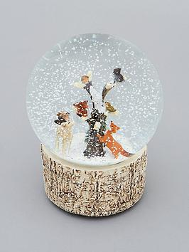 gisela-graham-woodland-animals-musical-snow-globe-christmas-decoration