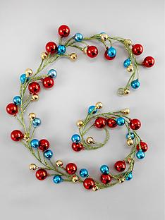 gisela-graham-multicoloured-ball-and-tinsel-garland
