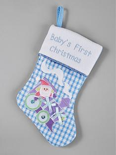 gisela-graham-babyrsquos-first-christmas-stocking-ndash-blue