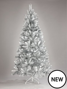 7ftnbspsilver-grey-sparkle-christmas-tree-with-frosted-tips