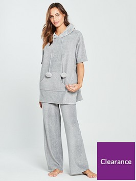 v-by-very-faux-fur-trim-hooded-pom-pom-poncho-greycharcoal