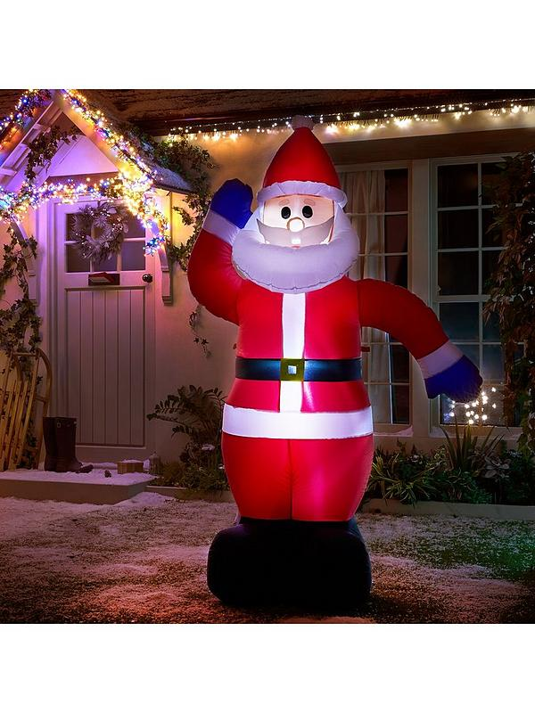 Light Up Outdoor Christmas Decorations.Inflatable Light Up Santa Outdoor Christmas Decoration