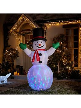 inflatable light up snowman outdoor christmas decoration littlewoodscom
