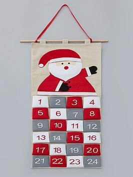 hanging-fabric-santa-claus-advent-calendar