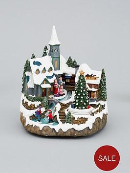 muscial-polyresin-christmas-village-scene-decoration