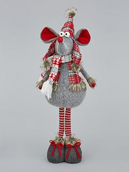 Very Standing Plush Mouse Christmas Room Decoration Picture