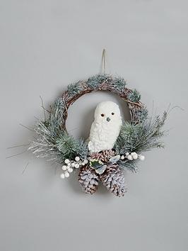 owl-christmas-wreath