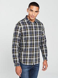 v-by-very-long-sleeved-khaki-check-shirt
